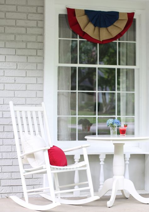 Decorate the porch for the 4th!