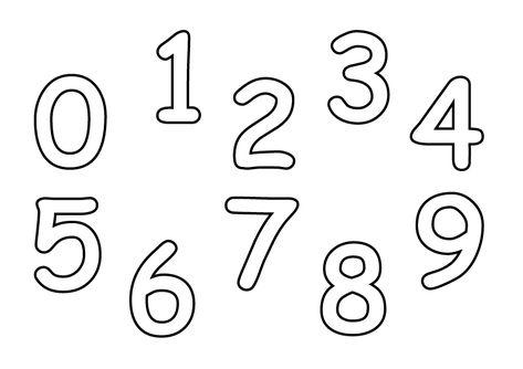 123 Malvorlage - Spielend Ziffern lernen in 2020