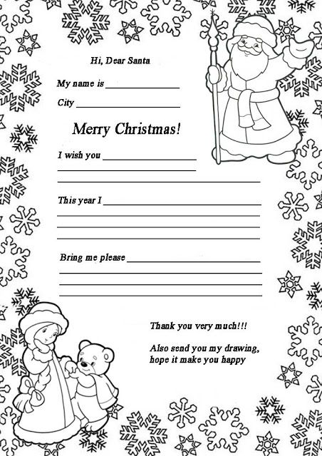 Staying In Touch With Santa 7 Free Download Coloring Pages