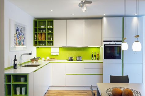 Contemporary Kitchen Design: Kitchens with a Pop of Color