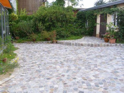 Germania antik®-Aqua Das Landhaus-Pflaster im Einklang mit der - garageneinfahrt am hang