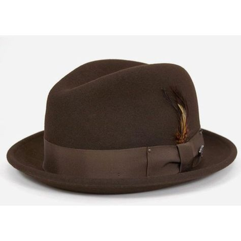 452dc27c Bailey Hats Bailey Tino Felt Crushable Trilby Hat - Brown ($84) ❤ liked on  Polyvore