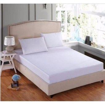 Shop Online 3 Piece Set King Size Plain White Bedsheetitem Is Really Good 3 Piece Set King Size Plain Whi White Bed Sheets Fitted Sheet White Bedding