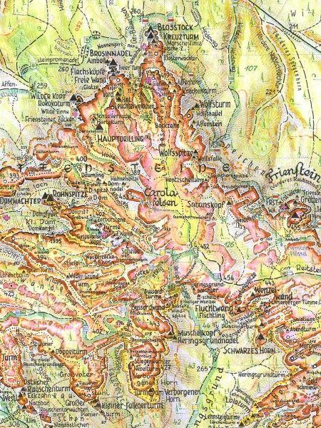 Kartenausschnitt Wanderkarte Schrammsteine Und Affensteine Massstab