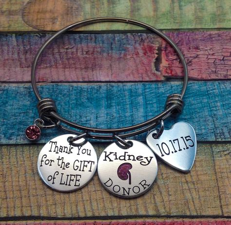 Organ Donor Jewelry Living Donor Gift Thank you for the gift