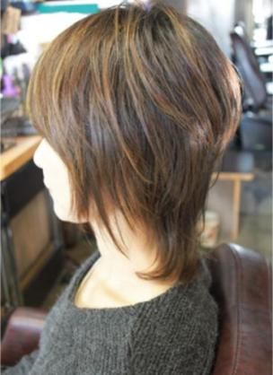 ウルフカット ロング ストレート Yahoo 検索 画像 髪型 40代