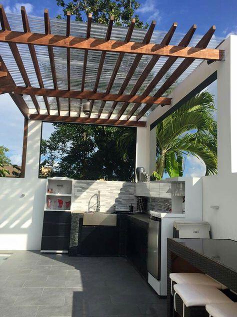 Terraza En 2019 Techo De Patio Asadores De Patio Y Diseño