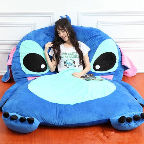 Giant Lilo Stitch Plush Single Beanbag Cartoon Tatami Bed Sleeping Bag for sale online Lelo And Stitch, Lilo Et Stitch, Peluche Stitch, Stitch Disney, Lilo And Stitch Quotes, Tatami Bed, Cute Disney Outfits, Cute Stitch, Lit Simple