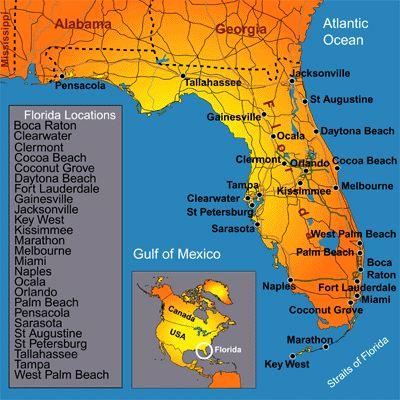 Más De Ideas Increíbles Sobre Mapas De Florida En Pinterest - Mapa de la florida usa
