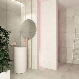 Głównym Elementem Dekoracyjnym łazienki Jest Delikatna