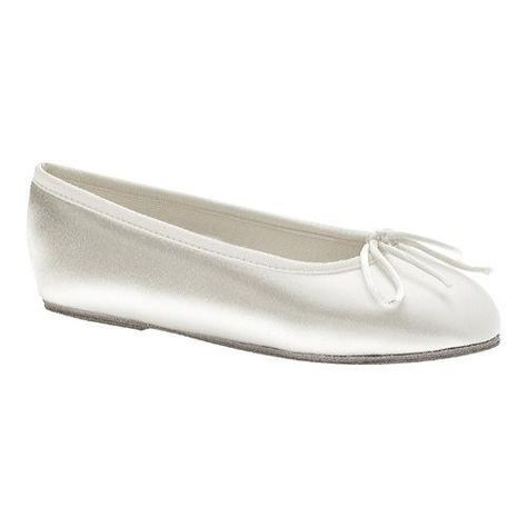 WATERLILLY WHITE SATIN FLAT in Dyeable Shoes > Dyeable Flats -  DyeableShoeStore.com   Wedding Dresses, Hair, Makeup, Etc   Pinterest    Dyeable shoes, White ...