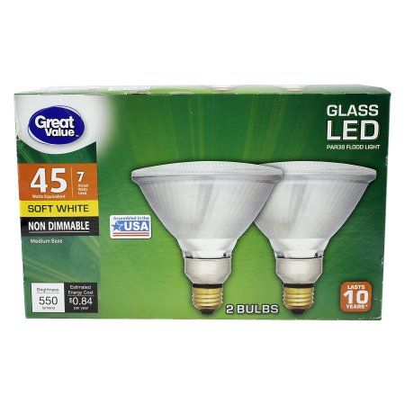 Household Essentials Led Flood Lights Bulb How To Install