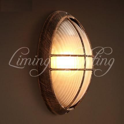 Loft Style Bedroom Led Wall Lamp Iron Glass Antique Wall Sconce