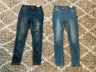 Girls Justice Jeans 2 Pair Legging Jegging Size Girl Outfits Clothes Baby Girls Top