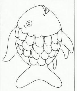Creation Craft Day 5 Fische Lassen Sie Kinder Im Vorschulalter Ein Stuck Farbiges Papier Auf Rainbow Fish Template Rainbow Fish Coloring Page Rainbow Fish
