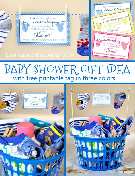 Laundry basket baby shower gift laundry babies and gift baby shower laundry gift idea solutioingenieria Images