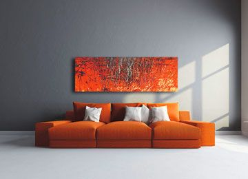 Life Through Tinted Lens Shades   Contemporary Abstract Wall Art By Sam  Freek #orange #