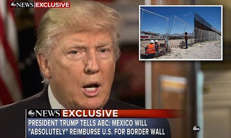 Trump: Mexico wall building to start within months