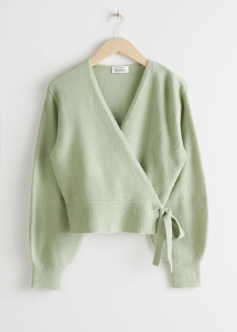 Wrap Cardigan - Green - Cardigans - & Other Stories