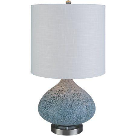 Surya Shadeoutside Linen Ball Table Lamp In Body Sandblasted Finish Mss 001 Walmart Com Lamp Transitional Table Lamps Table Lamp