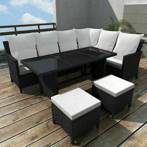 Gartenmobel 14 Tlg Poly Rattan Lounge Sitzgruppe Sofa Sitzgarnitur Ebay Garten Lounge Set Sitzgruppe Aussenmobel