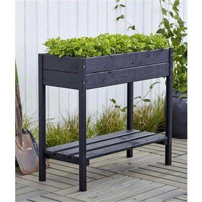 Woodinis Pflanzen Krauter Hochbeet 88x37x79 Balkon Garten Hochbeet Pflanzkasten Pflanzenkubel Fur Den Garten