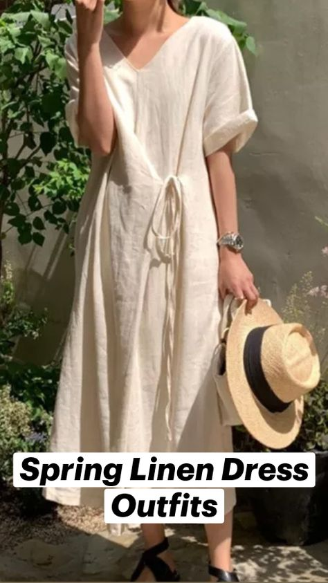 Spring Linen Dress Outfits