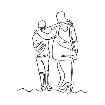 One Line Drawing Of Two Person Embrace Vector Minimalism People Togetherness And Friendship Metaphor Concept Illustration Drawing People Png And Vector With In 2021 Drawings Sketches Of People Line Art Drawings