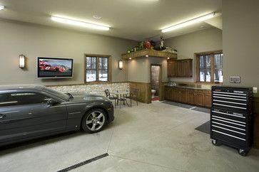 Garage And Shed Photos Design Pictures Remodel Decor And Ideas Page 23 Garage Design Interior Garage Interior Luxury Garage