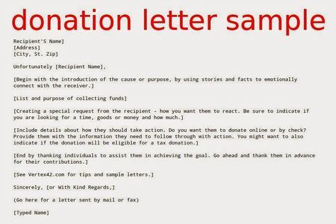 donation letter request sample fundraising for donations free word - donation request letter