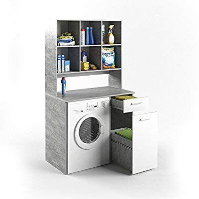 Vicco Waschmaschinenschrank Kombination Beton 185 X 103 X 60 Cm Badregal Hochschrank Waschmaschine Bad Schrank Ba Schrank Waschmaschine Waschmaschine Schrank
