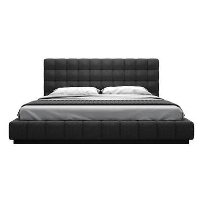 Emil Queen Storage Murphy Bed With Mattress Upholstered Platform Bed Platform Bed Bed Furniture
