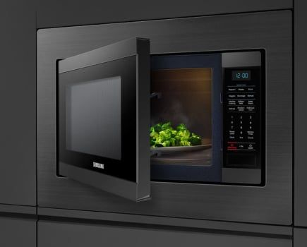 Samsung Ms19m8020tg 1 9 Cu Ft Countertop Microwave With Sensor Cook Eco Mode Auto Defrost Preset Cooking Options Led Display Child Lock Ceramic Enamel I Countertops Countertop Microwave Built In Microwave