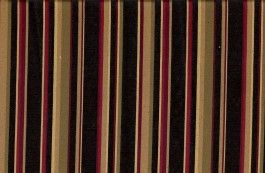Swavelle Mill Creek Mulholland Gemstone Striped Upholstery Fabric - Black and gold stripe drapery fabric