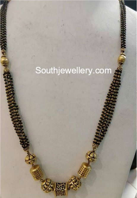Long Black Beads Chain Photo Black Beaded Jewelry Black Beads Mangalsutra Gold Mangalsutra Designs
