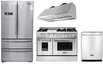 Thor Kitchen 4 Piece Kitchen Appliances Package With French Door Refrige Kitchen Appliance Packages French Door Refrigerator Appliances Kitchen Stainless Steel