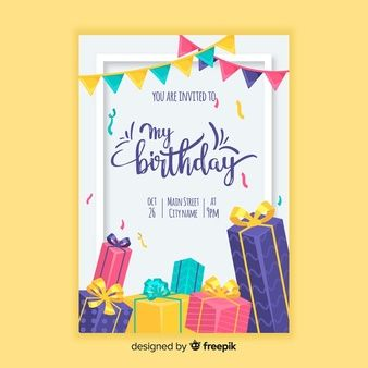 Download Collection Of Colorful Birthday Cards For Free Birthday Card Template Free Birthday Card Template Printable Birthday Invitations