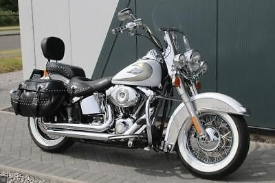 Ebay 2009 Harley Davidson Heritage Softail Classic Silver White Vance Harleydavidson Ukdeals Rssdata Net Harley Softail Softail Harley Davidson