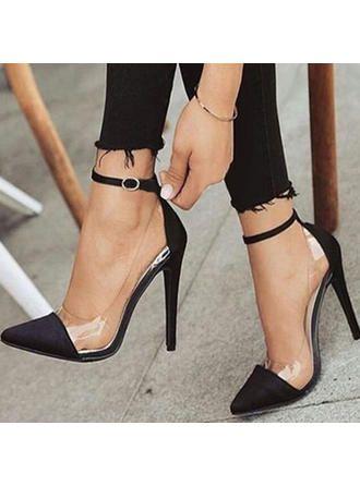 US$ 38.39] Women's Satin Stiletto Heel Pumps With Buckle shoes - VeryVoga |  Pumps heels stilettos, Heels, Stiletto heels