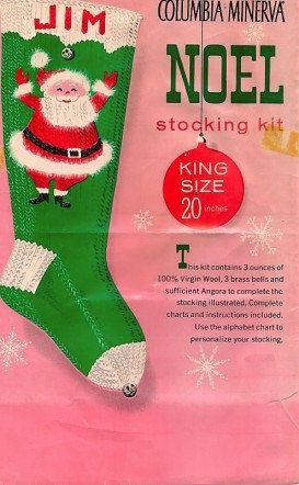 Vintage Knit Christmas Santa Stocking Pattern by FavoriteWoolies ...