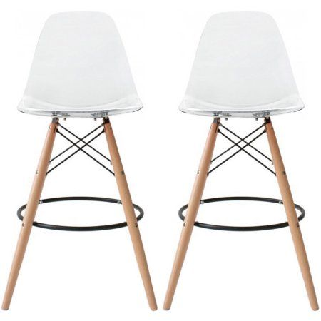Free Shipping Buy 2xhome Set Of 2 Two 25 Seat Height Modern