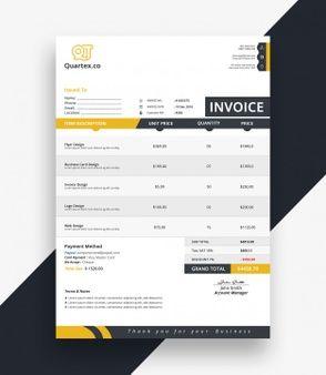 Clean Invoice Bill Template Bill Template Invoice Template Templates