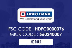 Hdfc Bank Mg Road Ifsc Code Coding Icici Bank Personal Loans