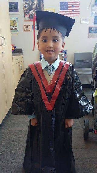 Diy Preschool Graduation Cap And Gown In 2020 Graduation Cap And Gown Preschool Graduation Preschool Cap And Gown