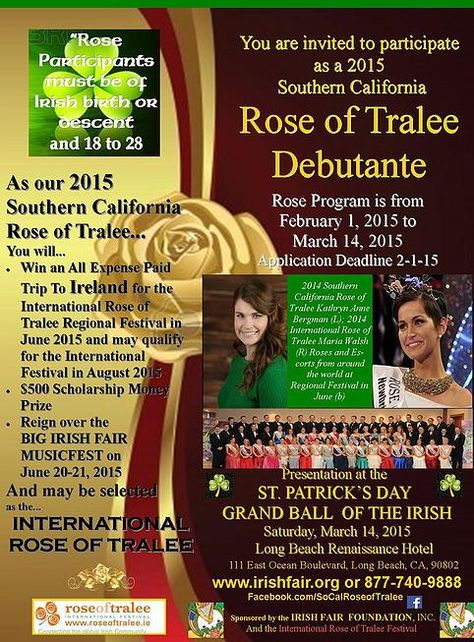 8 Rose Of Tralee 2014 Ideas Tralee Rose The Rose Of Tralee