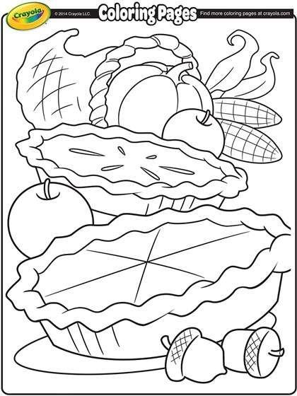 Cornucopia Coloring Page Crayola Com Thanksgiving Coloring