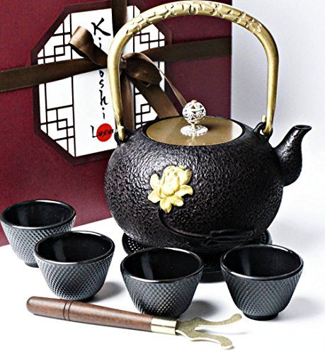 Kiyoshi Luxury Japanese Iron Tea Set 8 Pieces Teapot Tea Pots Japanese Tea Set Tea Set