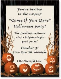 Halloween Poem To Go On A Invitation Adult Halloween Party