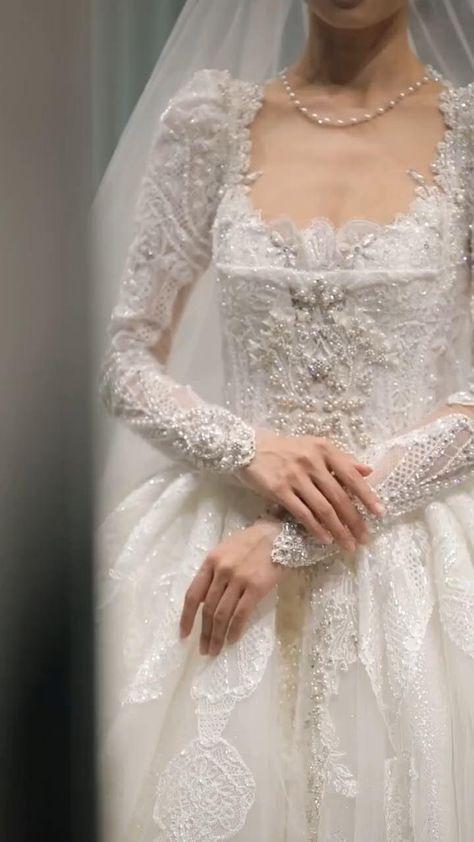 Retro Elegant Wedding Dress