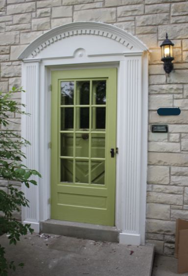 Cool front door paint ideas. Even gives actual paint name ...